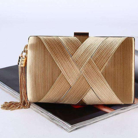 Silk Envelope Luxury Gold Clutches Bags - Wear.Style