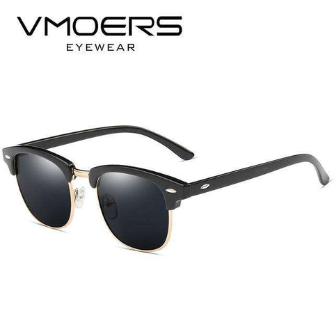 Semi Rimless Retro Polarised 100% UV400 Sunglasses - Wear.Style