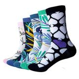 Colourful Flowers Jungle Pattern Cotton Socks (5 pairs/lot )