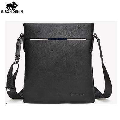 BISON DENIM Designer Genuine Leather Shoulder Crossbody Bag