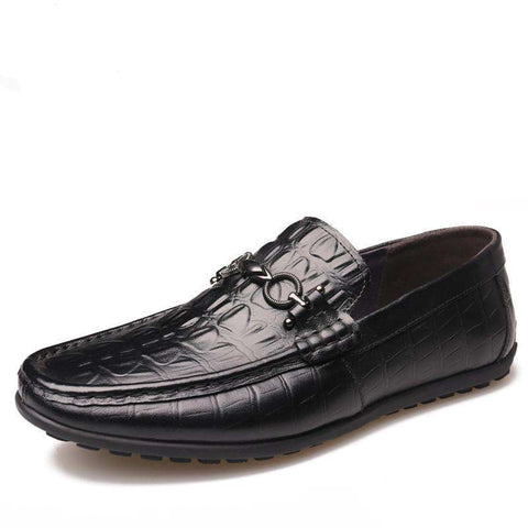 Genuine Leather Breathable Slip-On Moccasins Loafers