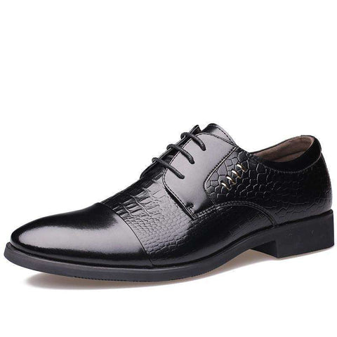 Oxford Luxury British Business Crocodile Leather Shoes