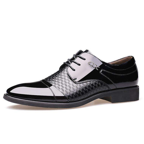 Luxury Leather Pointed Toe Lace Up Oxford Shoes