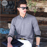 Long Sleeve Casual Solid Slim Fit Polo Tees