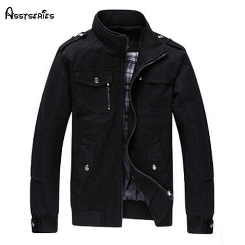 Stand Collar Slim Casual Style Jacket