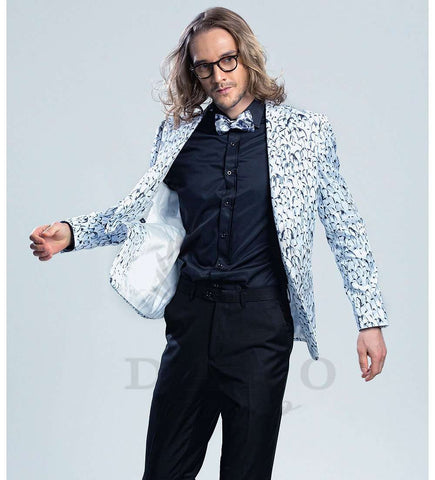 Printed Slim Fit  Trend  Luxury Blazer