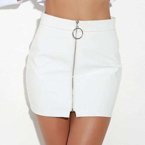 Sexy High Waist Zipper Slim Short Skirt - Wear.Style