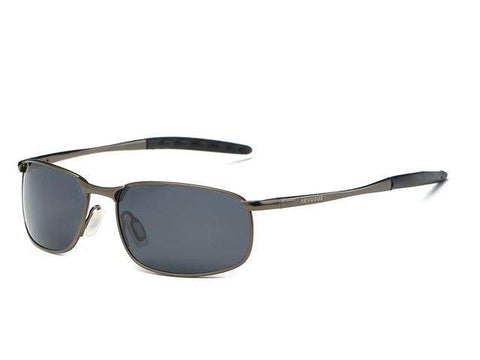 Polarised Rectangle Metal Frame Designer Fashion Sun Glasses - Wear.Style