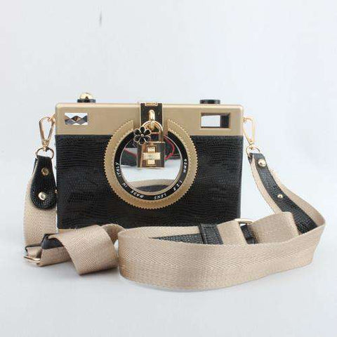Box Camera Clutch Bag