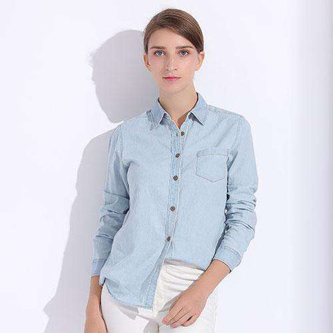 Full Sleeve Denim Shirt Top