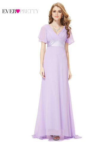 Padded Sleeve Long Gown - Wear.Style