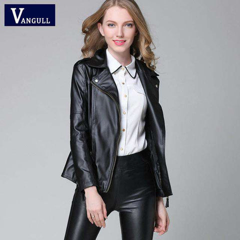 Short Leather Slim Motorcycle Jacket - Wear.Style