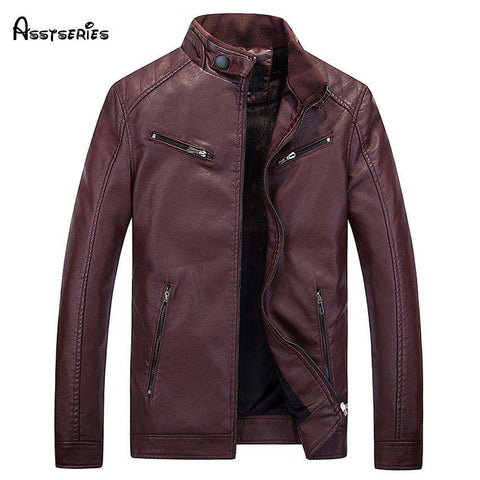 American Style PU Motorcycle Leather Jacket - WS-Jackets