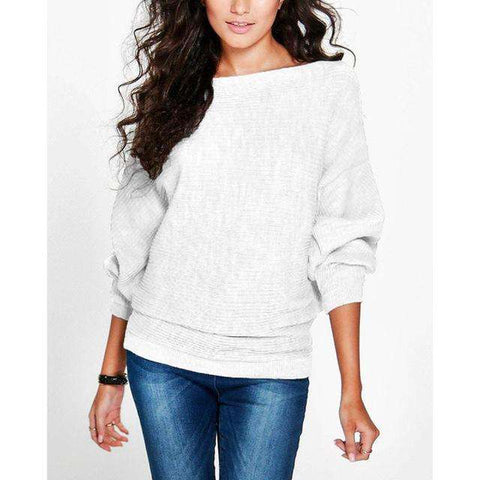 Loose Batwing Sleeve Casual Soft Pullovers - Wear.Style