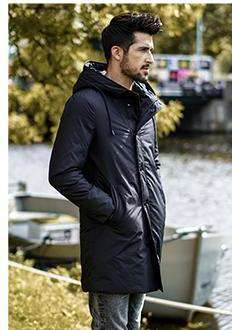 Long Duck Down Slim Fit Warm Parka High Quality Coats