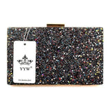 Diamonds Chain Leather Envelope Clutch - Wear.Style