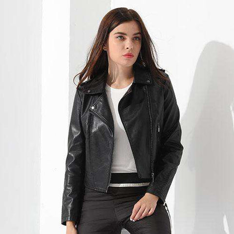 Turn-down CollarZipper Jacket