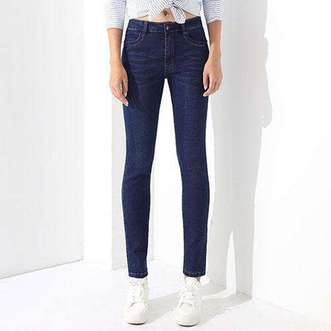 High Waist Denim Blue Jeans