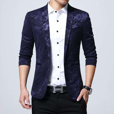 One Button Slim Fit Blazer - Wear.Style