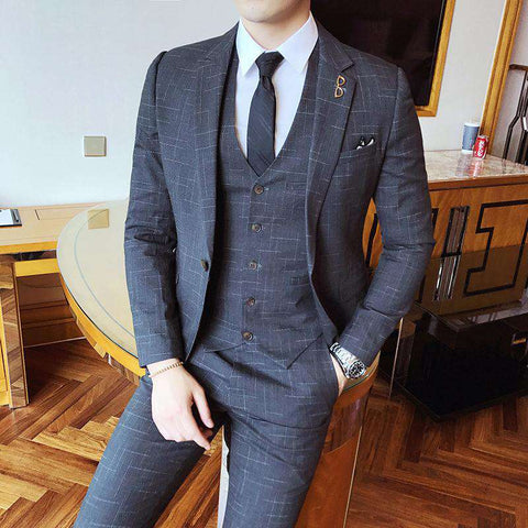 Single Breasted Pinstripe Classic Slim Fit Suit