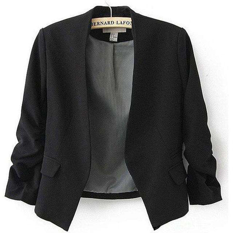 Breasted Slim Long Puff Sleeve Coat - Wear.Style