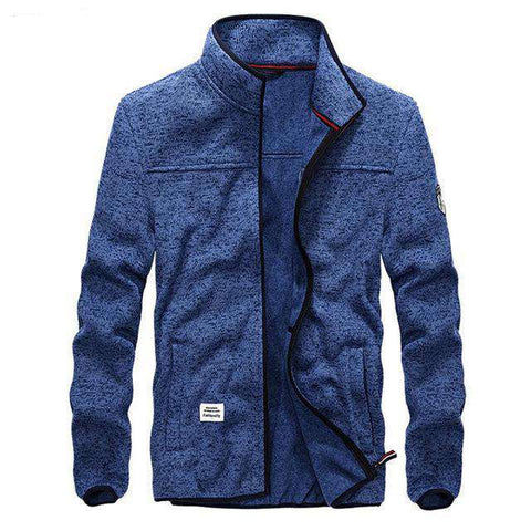 Casual  Slim Fit Stand Collar Jacket - WS-Jackets