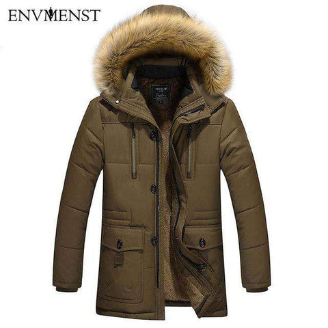 Thick Warm Parka Wool Liner Casual Hooded Jacket