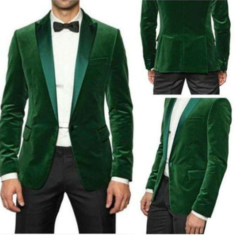 Green Velvet Party Wear Jacket