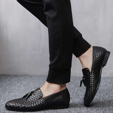 Breathable Comfortable Luxury Tassel Weave Shoes - Wear.Style