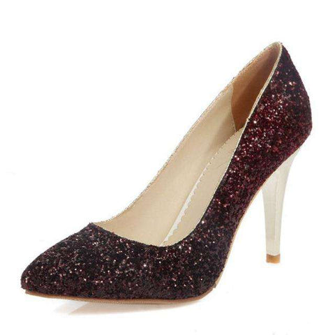 Pointed Toe Pumps Women Bling party wedding - Wear.Style