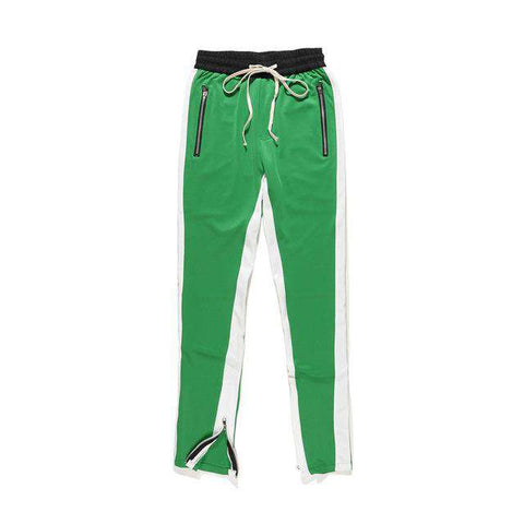 Side Stripe Bottom Zipper Drawstring Sweatpants - Wear.Style