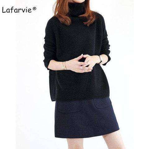 Cashmere Blended Knitted Turtleneck Pullover - Wear.Style