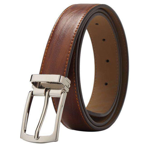 Genuine Leather Pin Buckle Casual Belt