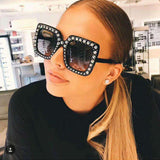 Shining Diamond Square Luxury Mirror Sun Glasses - Wear.Style