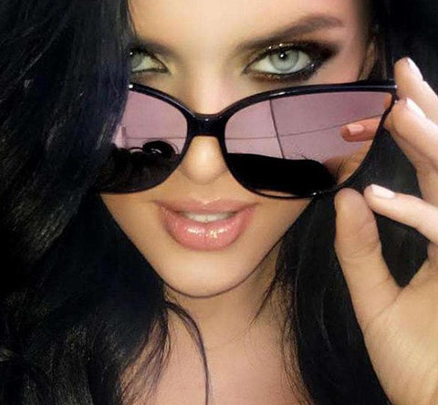 Luxury Flat Top Cat Eye Sunglasses - Wear.Style
