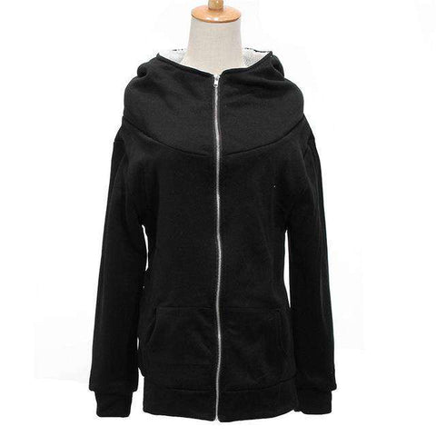 Hooded Thick Casual Long Sleeve Jacket - WS-Jackets