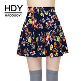 Multi Floral Printed Mini High Rise Zipper A-LineSkirt - Wear.Style