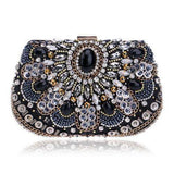 Crystal Retro Beaded Clutch Diamond Beaded Rhinestone Shoulder Bags Clutches