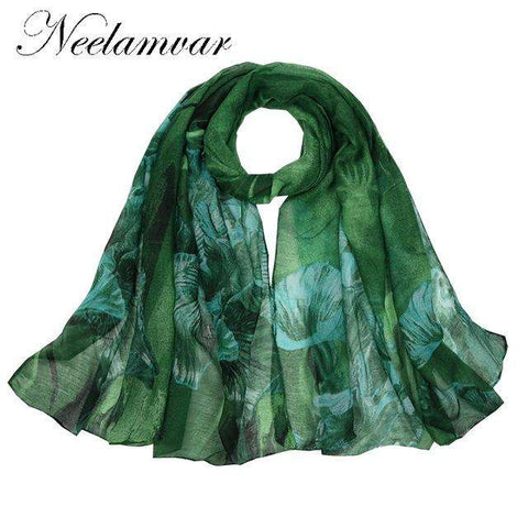 Leaves Cotton Scarf - Wear.Style