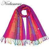 Colourful Flower Pashmina Long Scarf