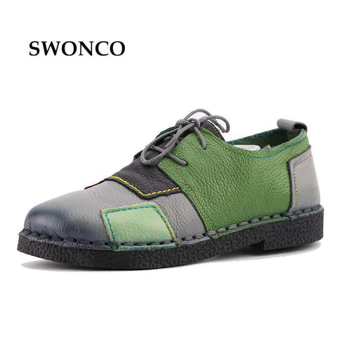 Handmade Genuine Leather Flat Soft Single Casual Shoes - Wear.Style