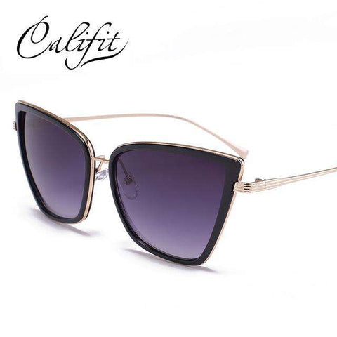 Elegant Cat Eye Black Frame Luxury Sunglasses