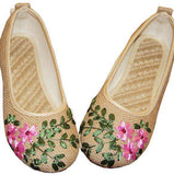 Embroidered Cotton Fabric Linen Comfortable Slip Ons - Wear.Style