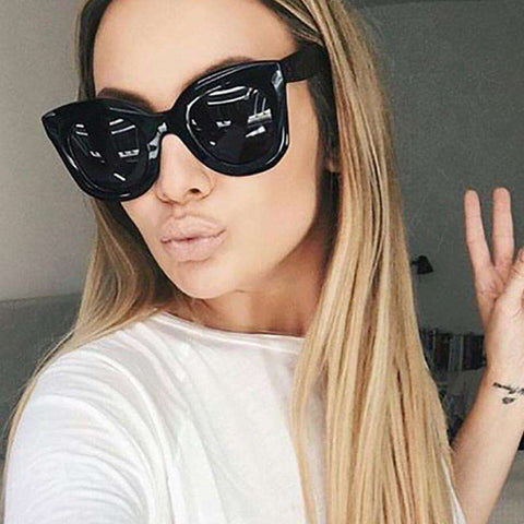 Cat Eye Round Vintage Gradient Cat Eye Sun Glasses - Wear.Style