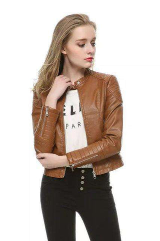 Pu Leather Short Jacket - Wear.Style