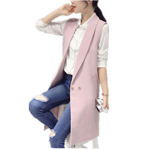 Slim Long Sleeveless Coat - Wear.Style