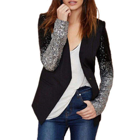 Black silver sequins Jackets