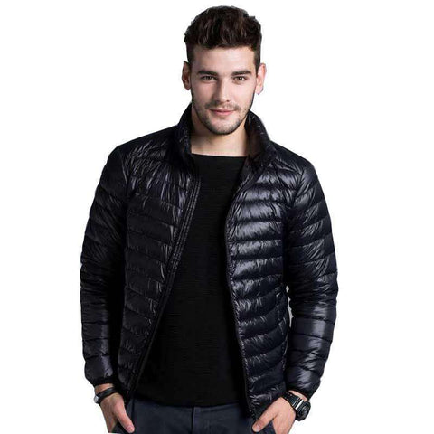 Solid Thin Breathable Winter Down Jacket