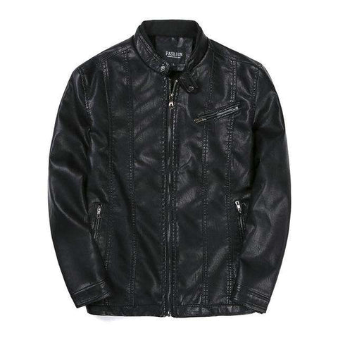 PU Slim Fit Male Leather Jacket - Wear.Style