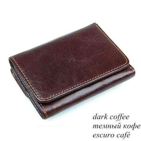 Multifunctional Antimagnetic leather Wallet